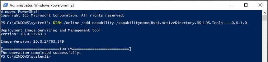 Install RSAT (Remote Server Administration Tools) to Windows